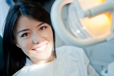 girl at dental office